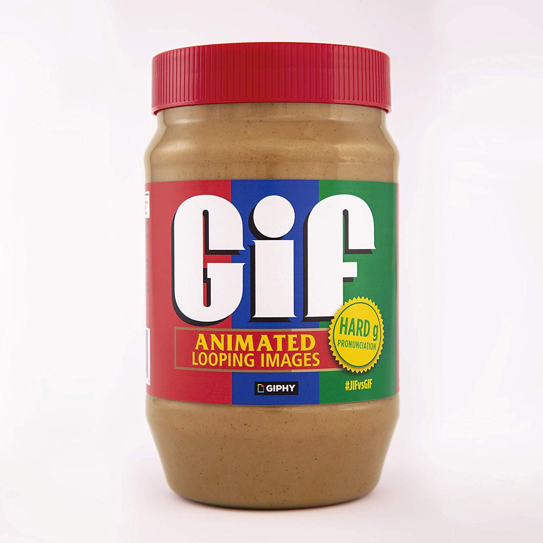 gif peanut butter jar