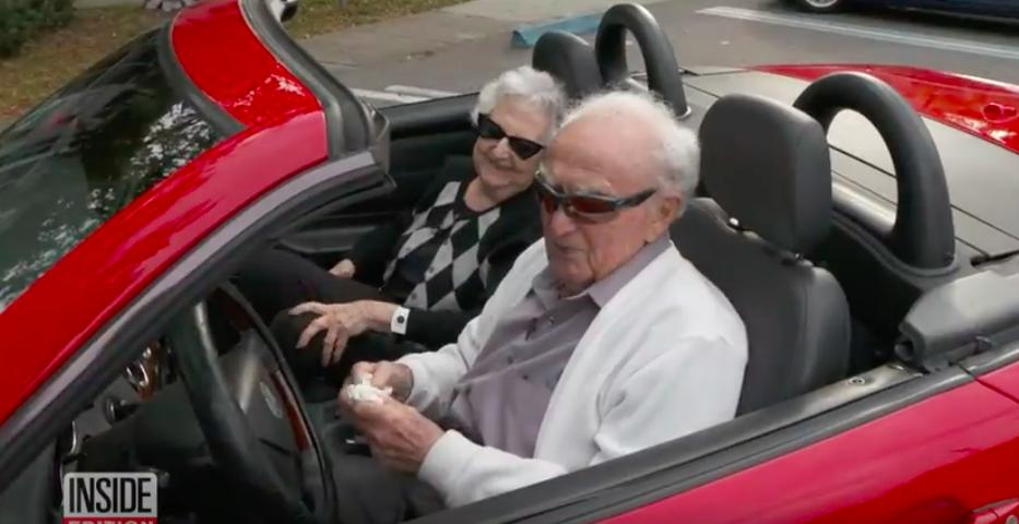Joe Newman 107-year-old driver