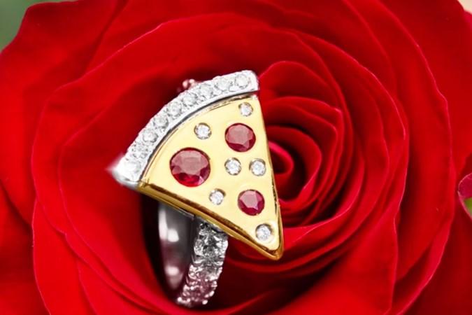 pizza engagement ring dominos australia