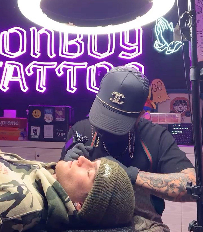 presley gerber face tattoo