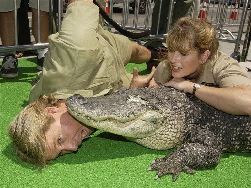 steve and terri irwin crocodile