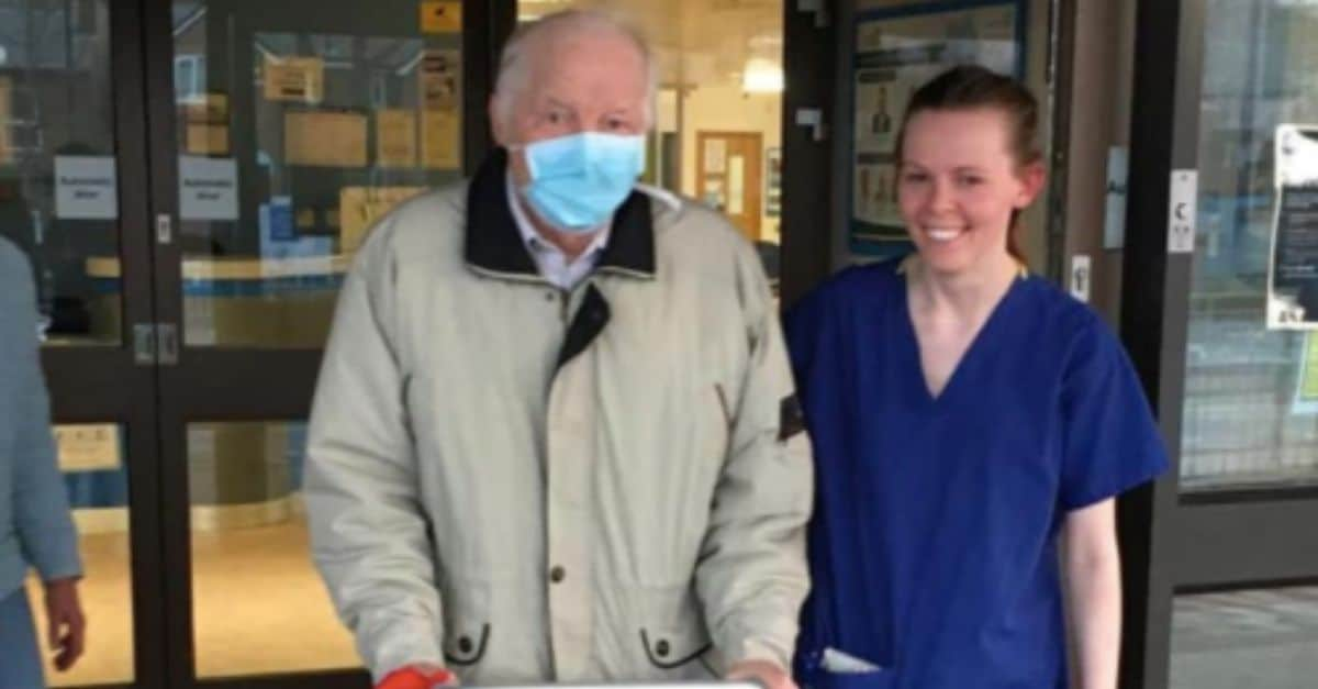 87-Year-Old Grandfather Is Finally Home After Battling Coronavirus For Two Weeks