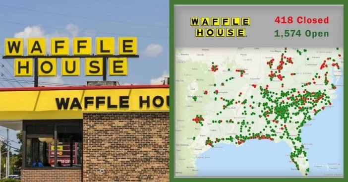 Almost a quarter of Waffle House locaitons are closed due to the coronavirus