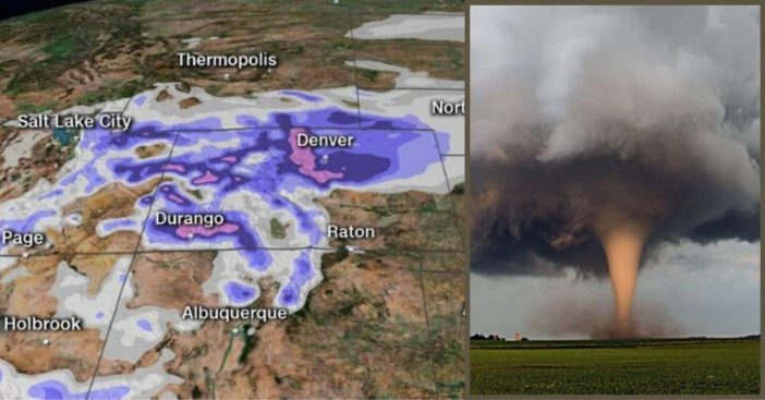 Blizzard Warnings And Tornado Threats Have Been Issued On The First Day Of Spring