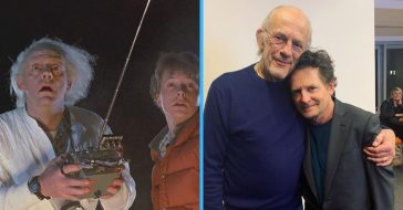 Christopher Lloyd and Michael J Fox reunited
