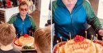Elton John celebrates birthday at home with kids