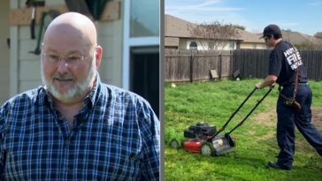 Firefighters Finish Mowing Man's Lawn After He Is Sent To The Hospital
