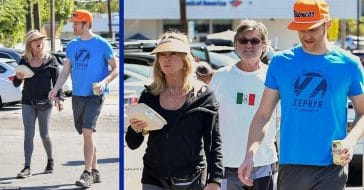 Goldie Hawn And Kurt Russell Dress Down For A Casual Lunch With Son Wyatt