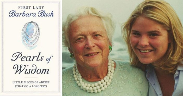 Jenna Bush-Hager Shares 'Pearls Of Wisdom' Book With Dedication To Barbara Bush