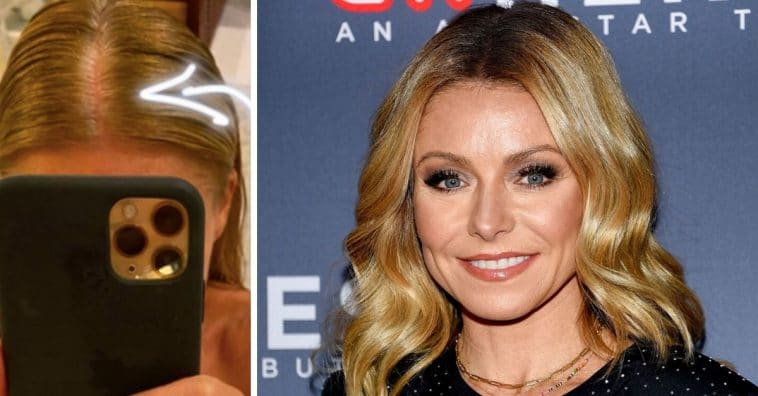 Kelly Ripa Shows Off Growing Grey Roots On Social Media