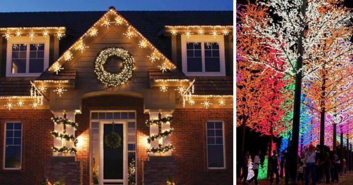 People putting back up Christmas lights to signal hope during coronavirus pandemic