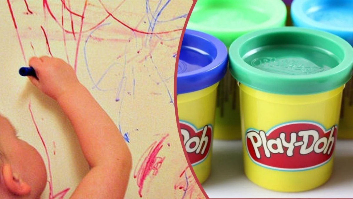 Play-Doh Was Actually Used As Wallpaper