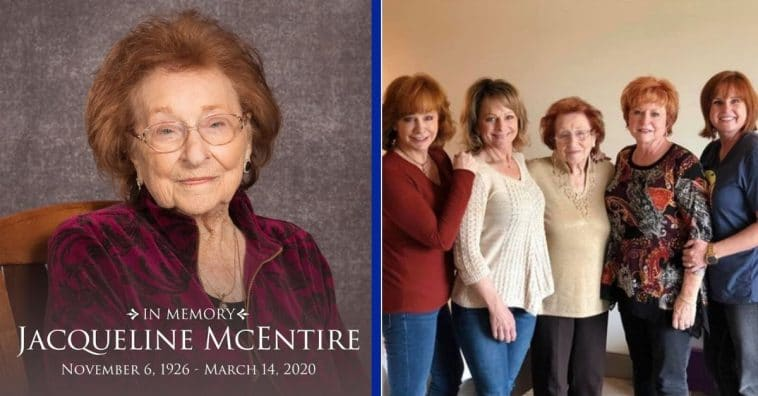 Reba McEntire's Mom, Jacqueline McEntire, Dies At Age 93