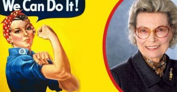 Rosalind P. Walter, who inspired Rosie the Riveter, passed away