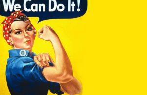 Rosie the Riveter endured after the war symbolizing women's strength