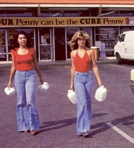 The 1970s marks a new advent for pants