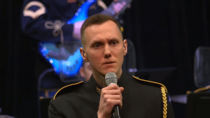 """The U.S. Army Voices band performed """"You Will Be Found"""" for the Love and Light event in Virginia"""