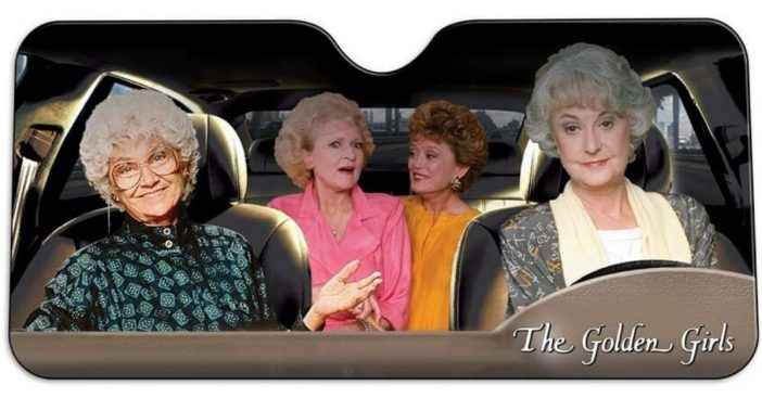 There is a new Golden Girls windshield sun shade