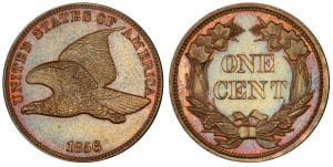 This is definitely the more clean of the Flying Eagles pennies out there