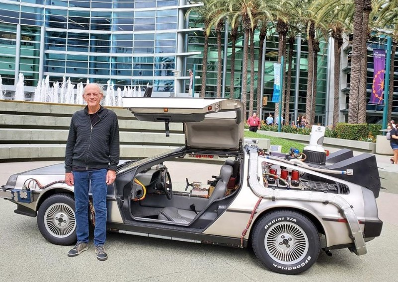 christopher lloyd back to the future car