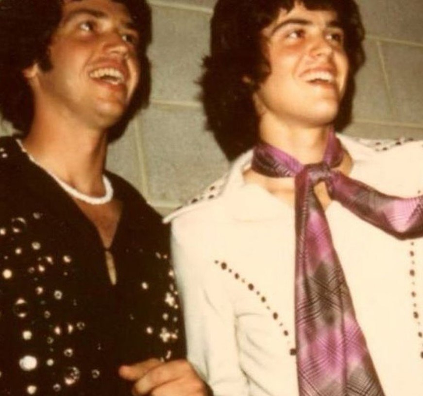 donny and jay osmond throwback photo