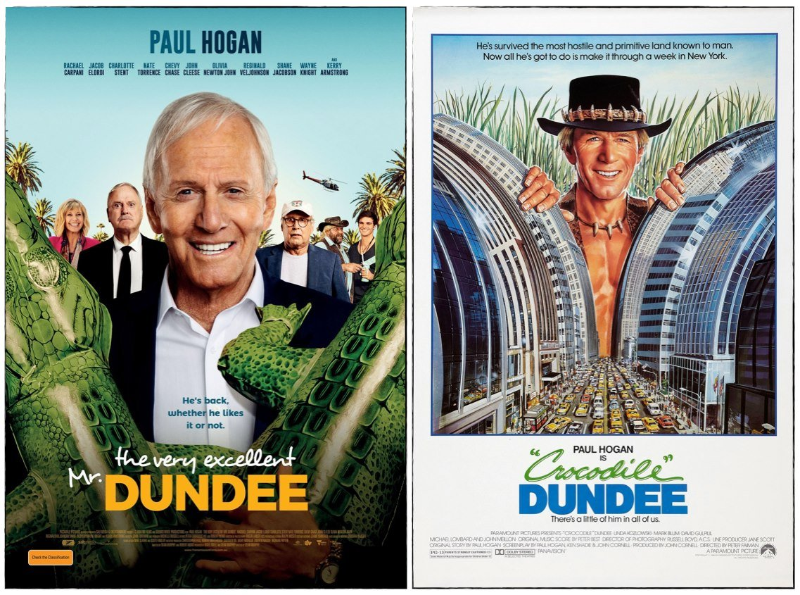 crocodile dundee movie posters paul hogan