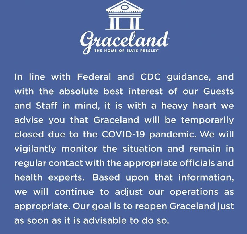 graceland closures