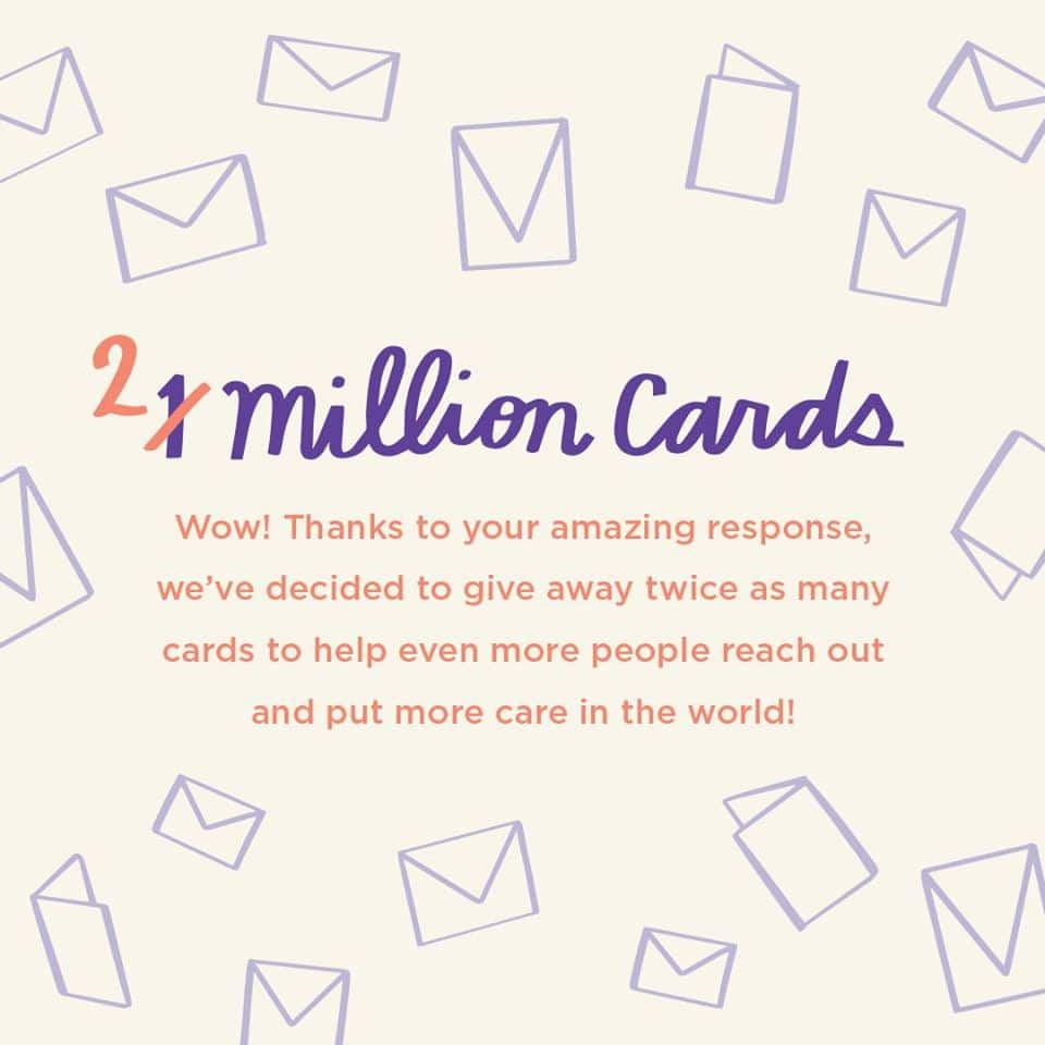 two million free cards hallmark