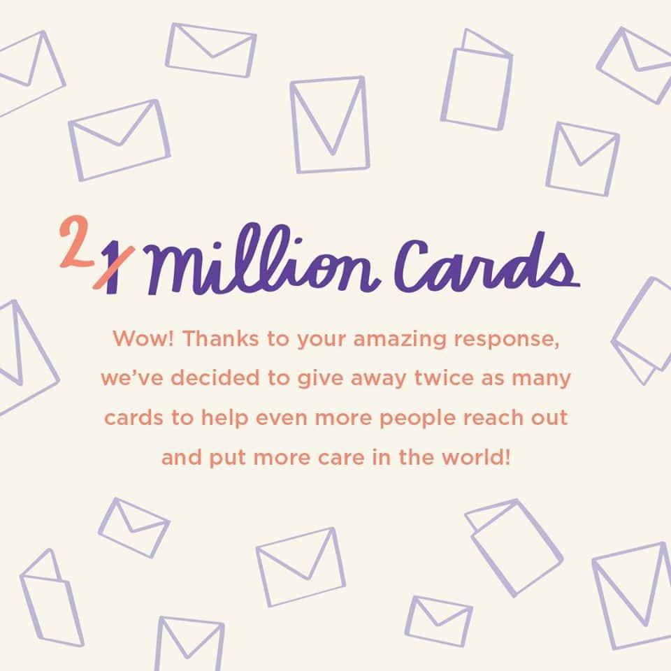 two million free cards hallmark