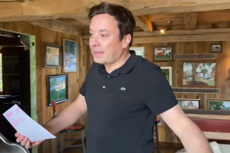jimmy fallon filming the tonight show at home