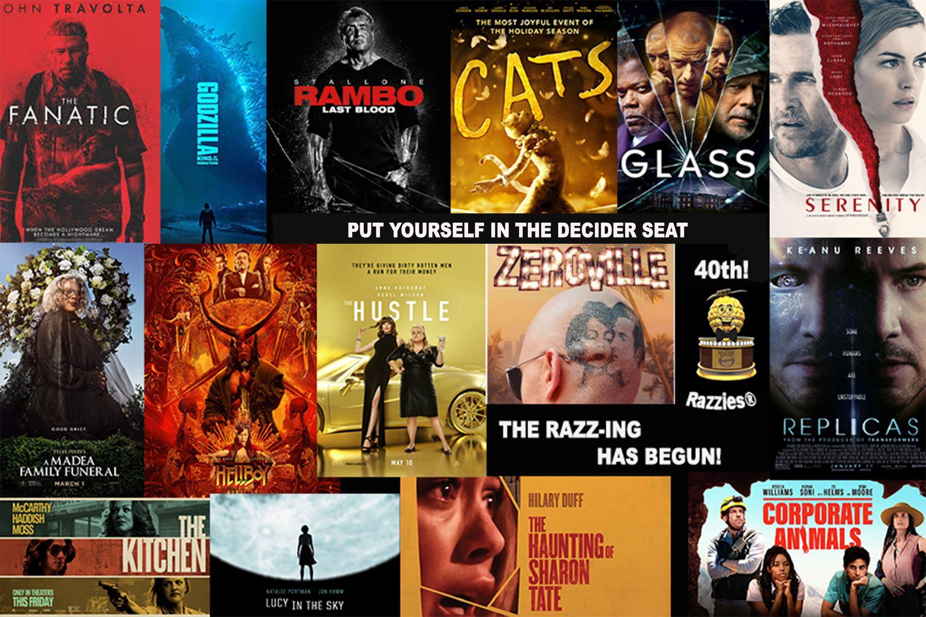razzie award nomination movies