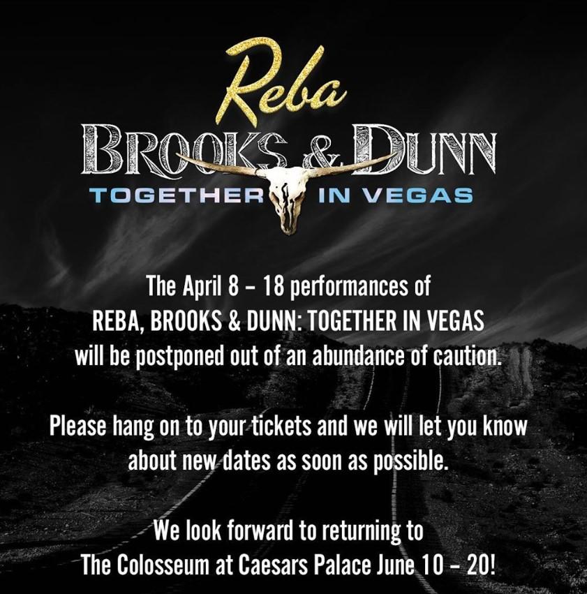 reba brooks and dunn las vegas residency postponed