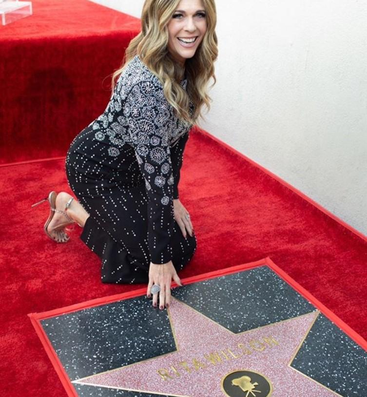 rita wilson hollywood walk of fame star