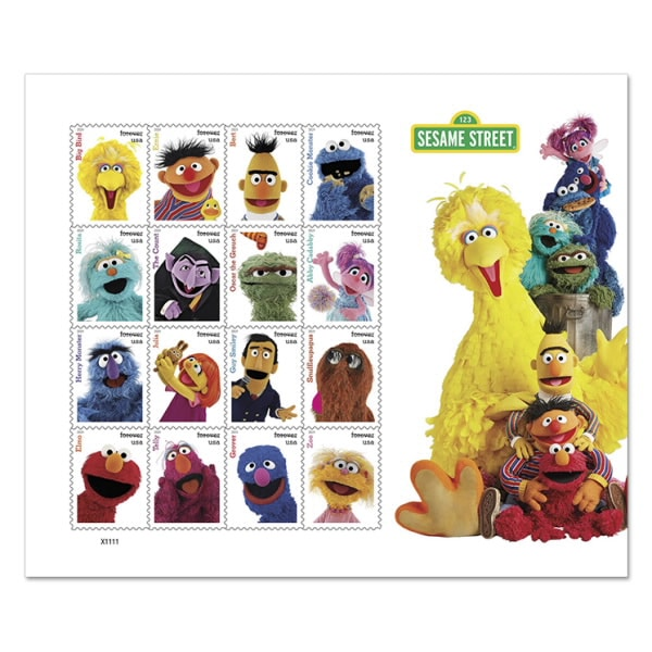 sesame street anniversary stamps