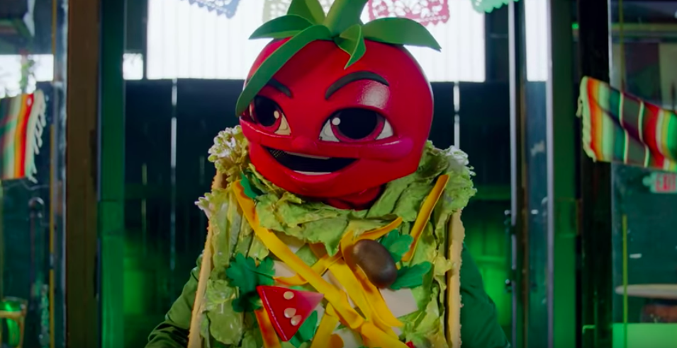 taco from the masked singer, tom bergeron