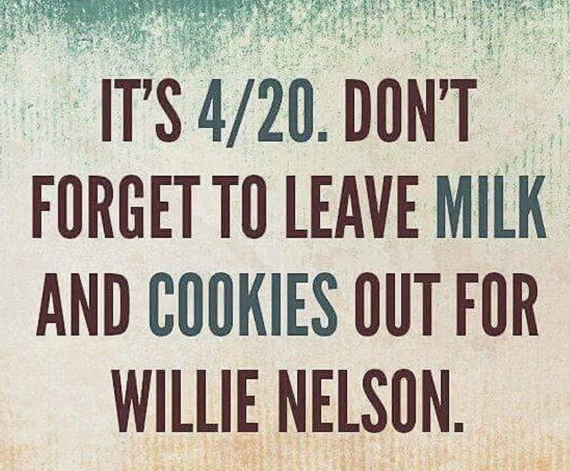willie nelson 4/20 weed joke