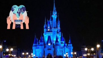 Disney lit up Cinderellas Castle in blue to thank healthcare workers