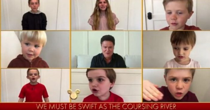 Donny Osmond and grandkids perform in Disney Family Singalong
