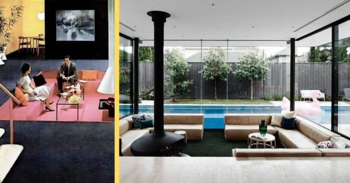 From living rooms of the 1970s to modern day backyards, the conversation pit is actually here to stay