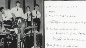 Handwritten Hey Jude lyrics sold at auction for 910000