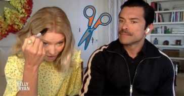 Kelly Ripa Cuts Her Own Hair During Lockdown With Kitchen Scissors