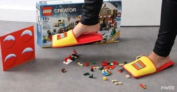 LEGO has anti LEGO slippers