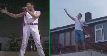 Man Recreates Freddie Mercury's Live Aid Performance During Coronavirus Lockdown