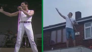 Man Recreates Freddie Mercury's Live Aid Performance During Coronavirus Lockdown