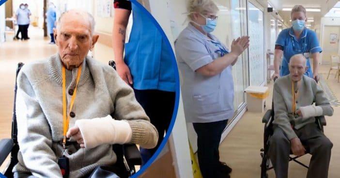 Nurses Applaud 99-Year-Old WWII Vet After He Beats Coronavirus