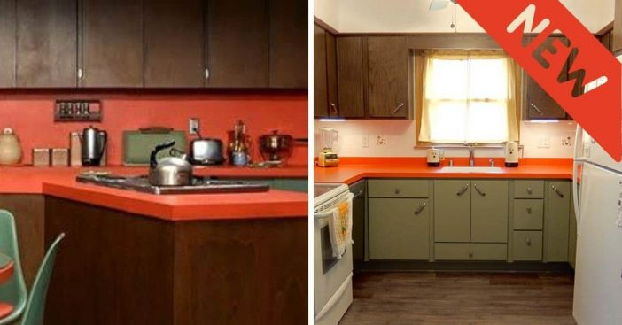 One couple renovated their kitchen to look like The Brady Bunch