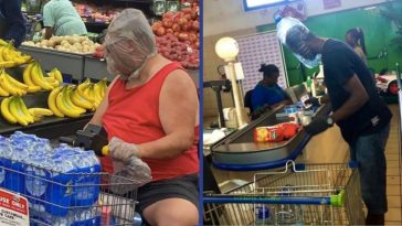 People Are Using Whatever They Can As Protective Gear While Out In Public