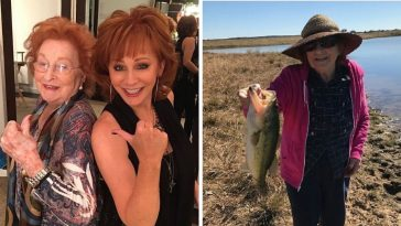 Reba McEntire shares a photo of the last time her mom went fishing