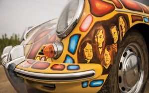 The car featured a lot of symbolic paintings, including Joplin's astrological sign and portraits of the band members