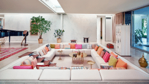 The conversation pit gave people a place to focus entirely on one another